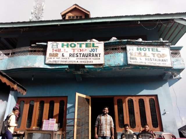 A local hotel cum restaurant at Jot, at 8600 feet altitude