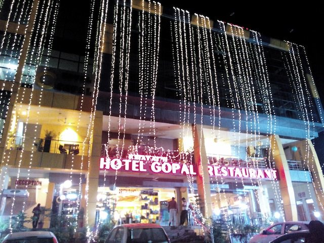 Hotel Gopal and Restaurant at Chambi, NH-20, where we put up