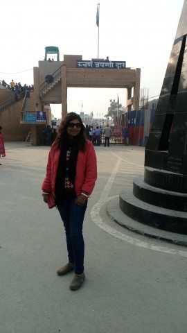 At the Entry Gate of Wagah Border