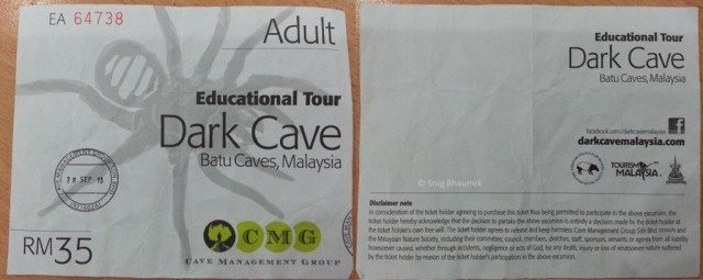 Ticket of Dark Cave