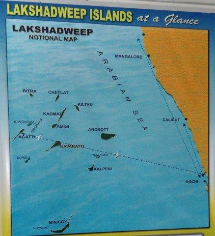 Lakshadweep Map