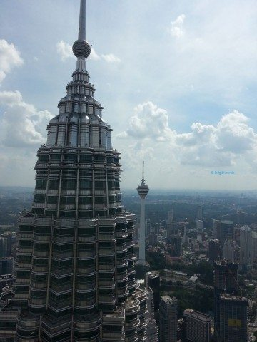 KL Tower from the top
