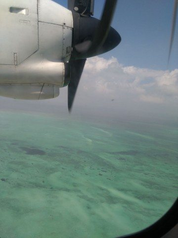 Flight back from Agatti