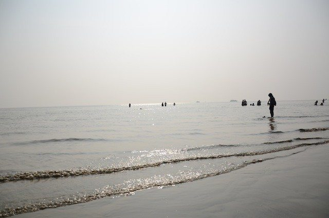 The great Ganga sagar bathing beach. Holy dip takes place here.