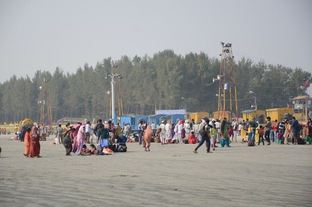 The unification area, where pilgrims from all over India meet with each other