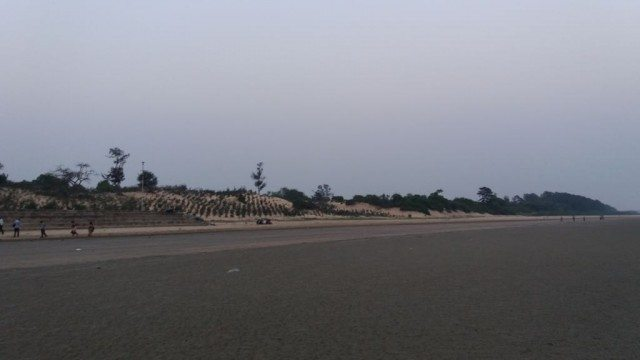 Chandipur beach in the evening