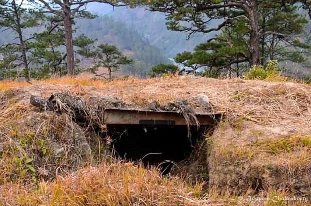 A bunker at Dong of 1962 Indo-China War