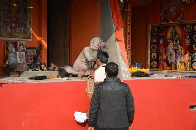 Male devotees also eager to take blessings of Naga Sadhus