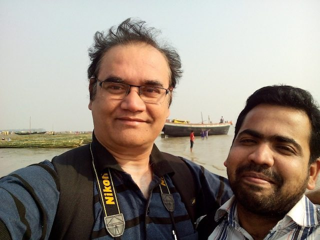 Myself with Swaraj before leaving the Sagar beach and mela ground