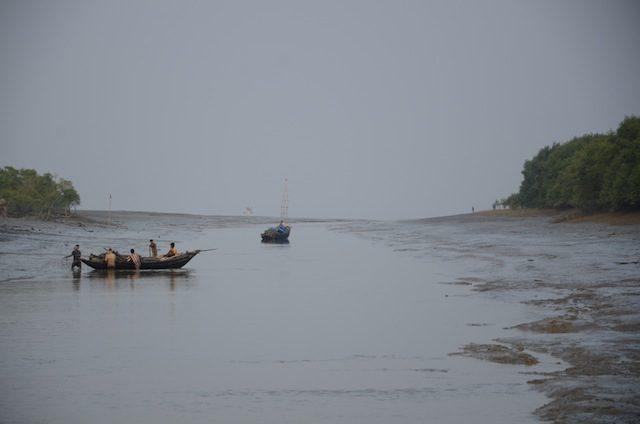 Bye bye Sagar island. Journey towards Namkhana started in the twilight of the dusk