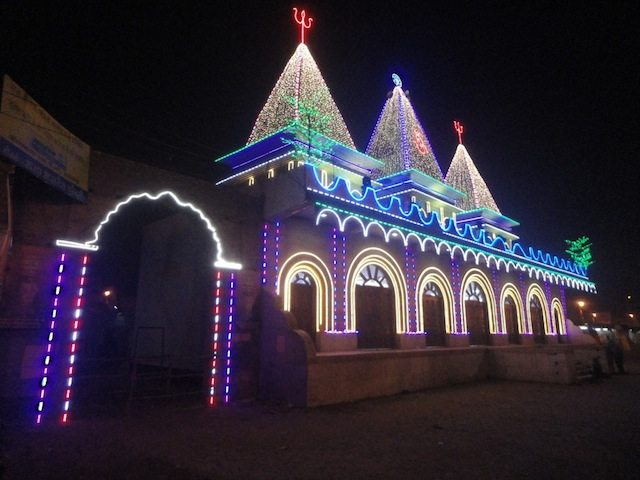 Kapil Muni temple by night. I took this photo during my visit to the Sagar Mela in 2014