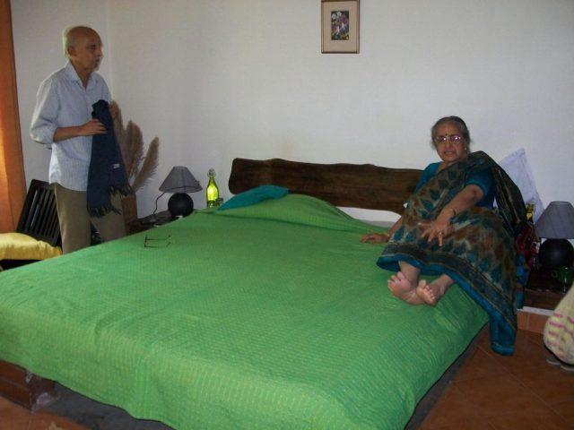 Inside our cottage - my parents