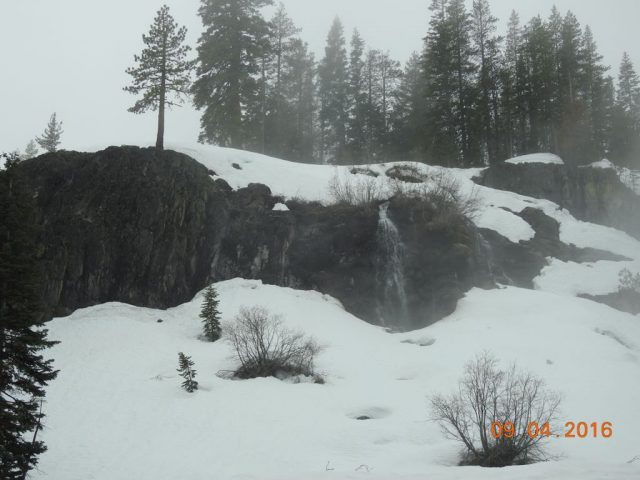 Waterfall amidst the mist