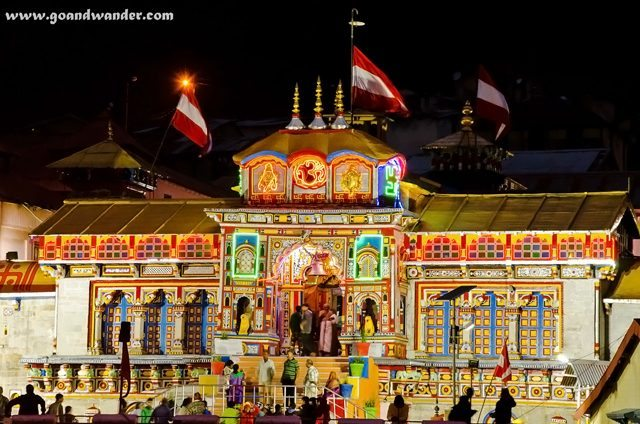 Badrinath Temple - Night View