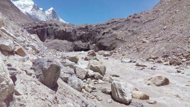 Gangotri Glacier Covering Gaumukh