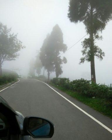 Foggy road near Mirik