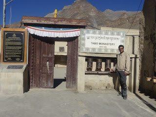 Outside Tabo Monastery