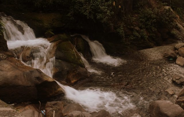 Lower part of Keukhola waterfalls on the way to Zuluk