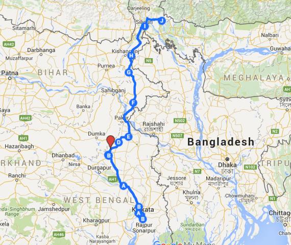 Kolkata to Murti