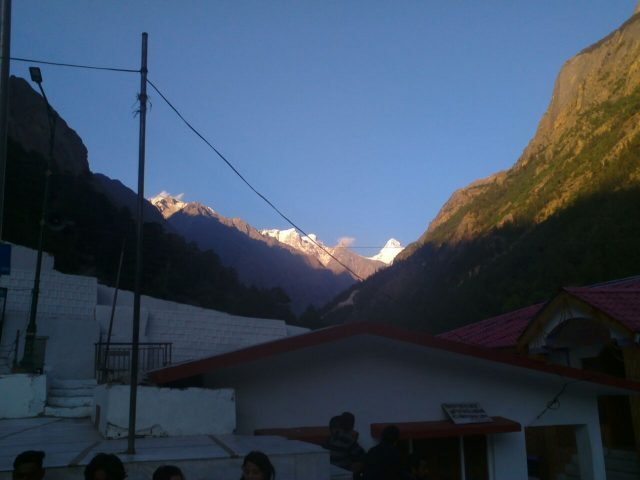 View of Gangotri Glacier from Gangotri Temple