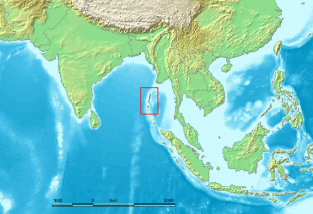 Andaman highlighted in red