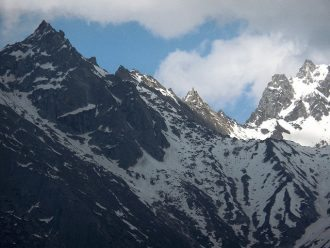 Shivling peak visible in the middle