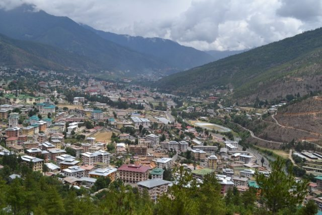 Aerial view of Thimphu City
