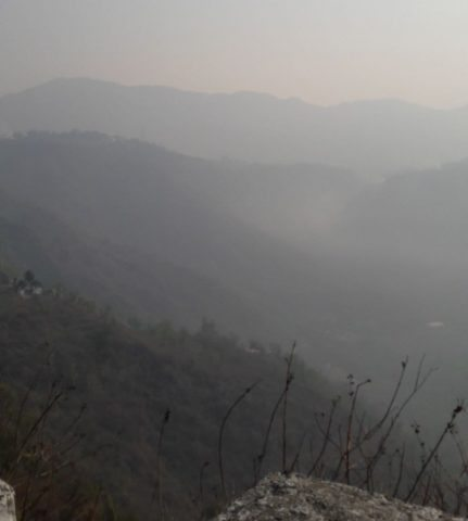 Early Morning view from Bhimtal Mountains
