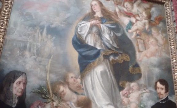 The immaculate conception of the virgin - with 2 donors