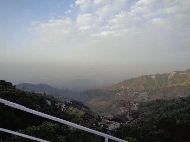 View from Hotel to Mussoorie