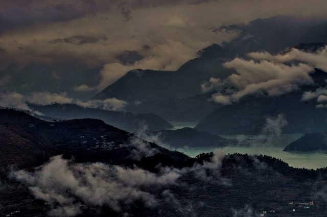 View of Tehri from Chamba, Uttarakhand