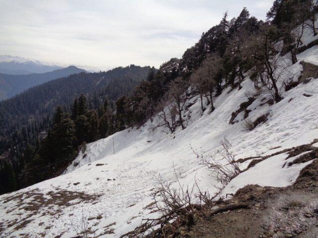 Way to Hatu Peak - Full of snow