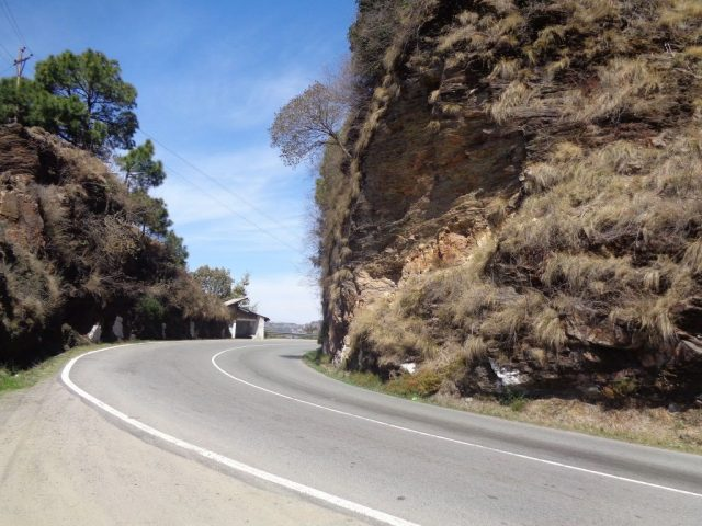 Road condition on the way to Shimla