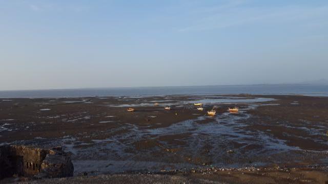 अरनाला किले के प्राचीर से अरब सागर का एक दृश्य