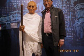 Gandhi ji at Madame Tussauds Museum