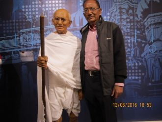 Gandhi ji at Madame Tussauds Museum