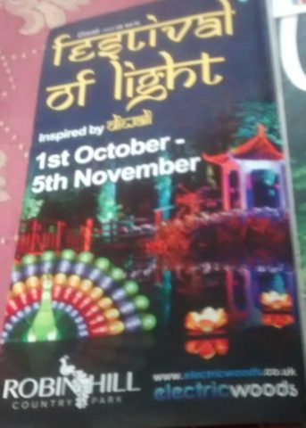 Festival of lights at Isle of Wight