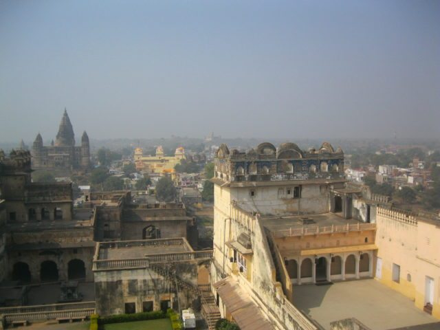 View from Jahangir Mahal – 3 temples in the background