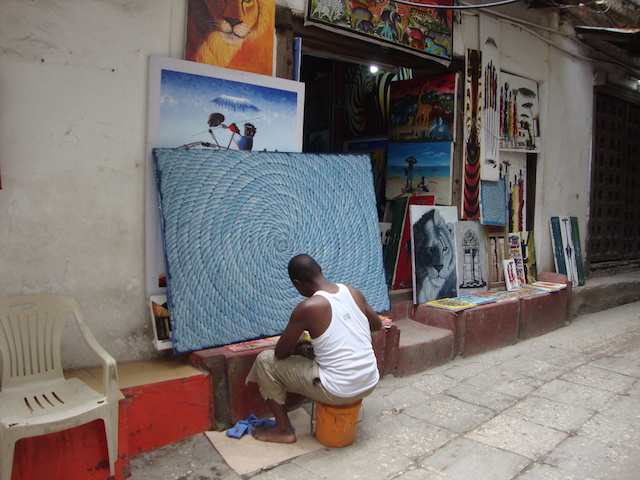 A Tinga Tinga painter