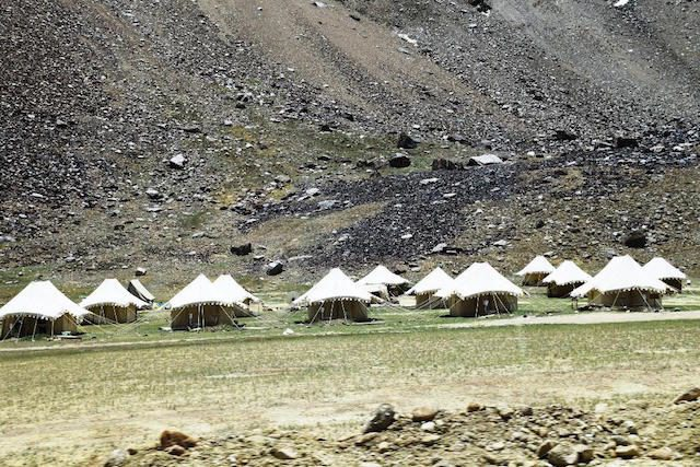 Tented accommodations in Sarchu