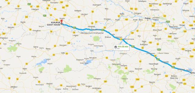 Kolkata To Kumaon A Stay At Allahabad Ghumakkar Inspiring - Allahabad map