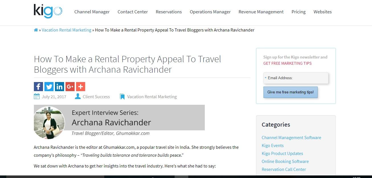 Kigo-Me - Ghumakkar - Inspiring travel experiences