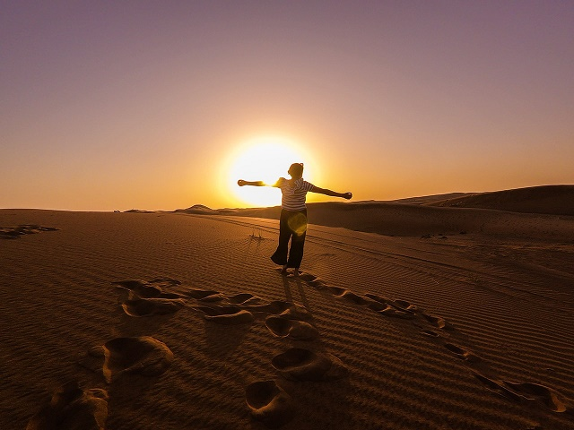Sunset in Arabian Desert